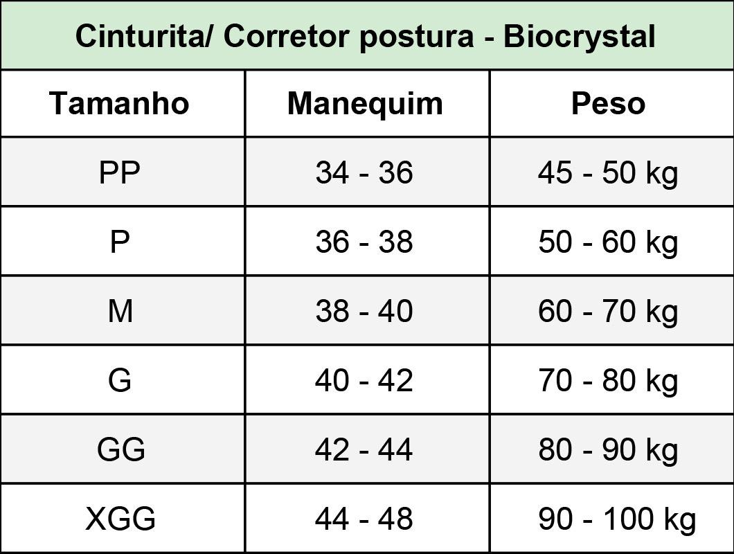 Corpete Biocrystal c busto pré moldado 16 barbatanas e 2 níveis de regulagem 8037