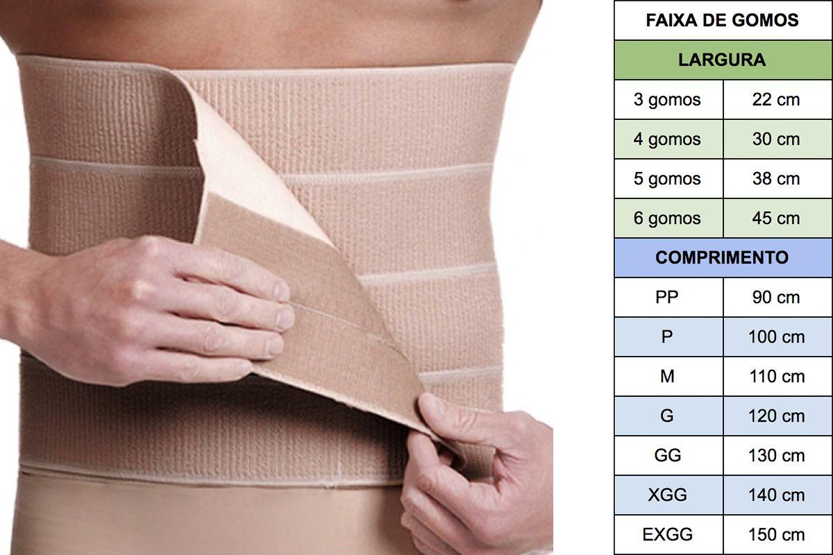 Faixa Abdominal Modelleskin 4014 Compressiva para Bariátrica