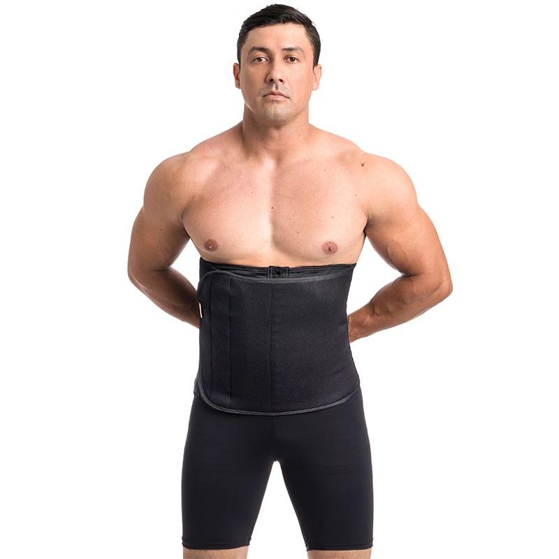 Faixa/cinta fitness masculina ModelleSkin 106000m em Neoprene e Tecido Emana ideal para prática de exercícios e postura  - Cinta se Nova