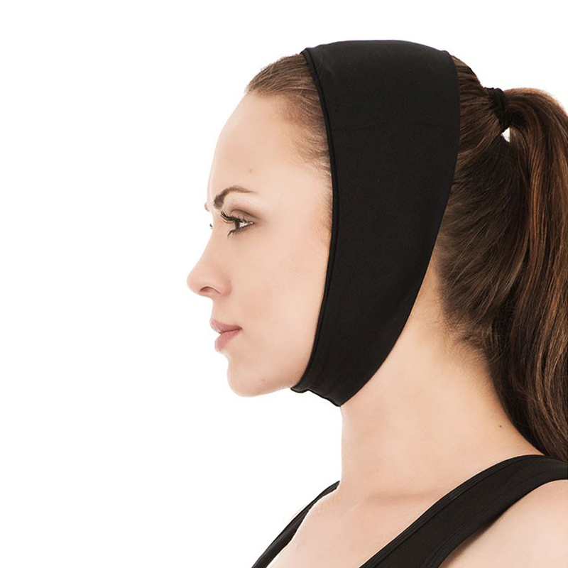 Faixa cirúrgica compressiva facial mentoneira Modelleskin 8012 otoplastia mentoplastia frontoplastia lipo lifting testa  - Cinta se Nova