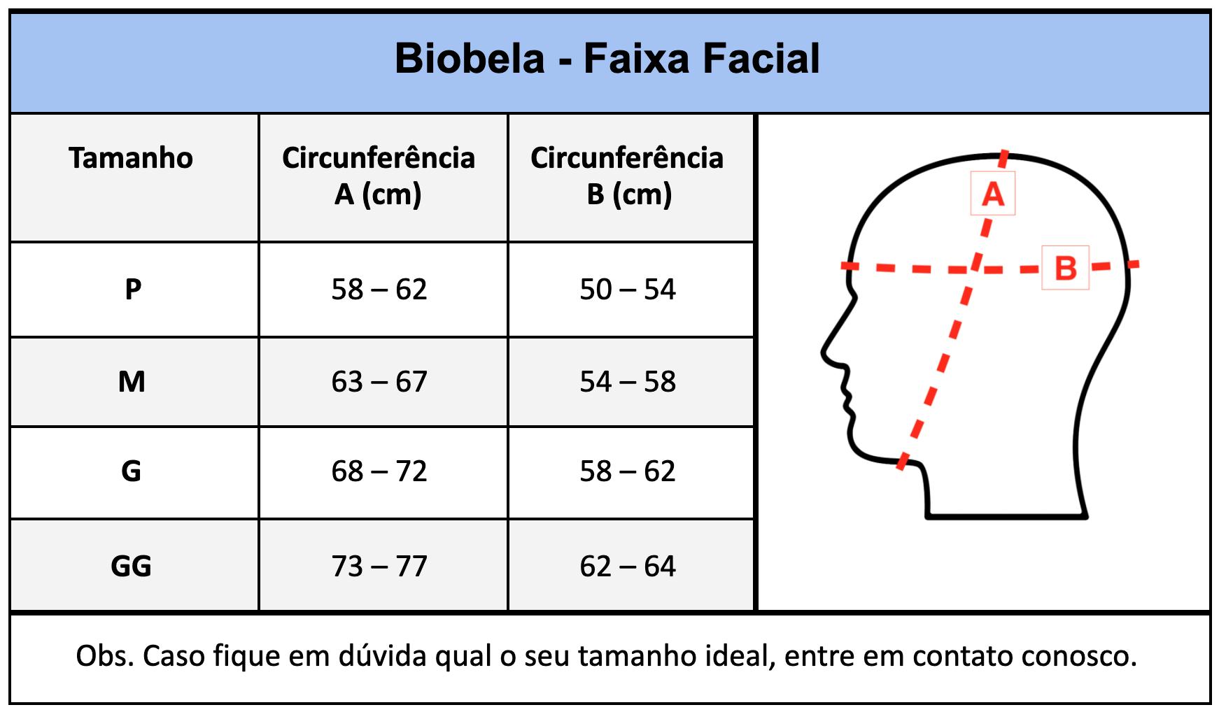 Faixa compressiva cirúrgica facial Biobela 1610 ideal p/ mentoplastia otoplastia frontoplastia bichectomia lipo facial  - Cinta se Nova
