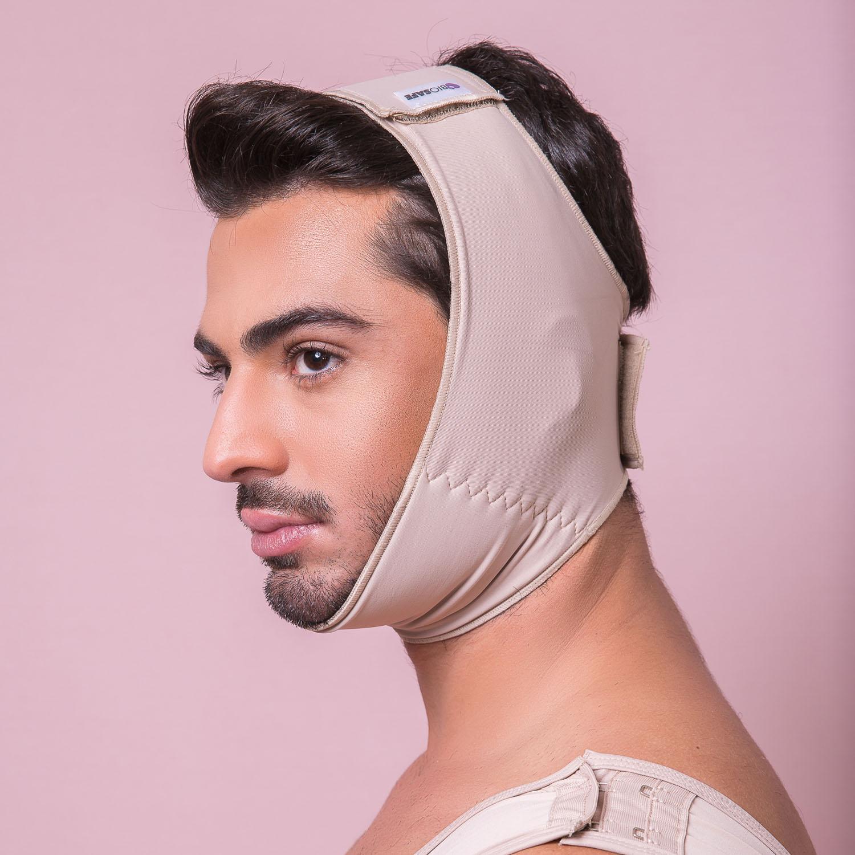 Faixa compressiva cirúrgica tam universal Reabilit 8012 Mento Otoplastia Frontoplastia Lifting Facial Bichectomia Queixo  - Cinta se Nova