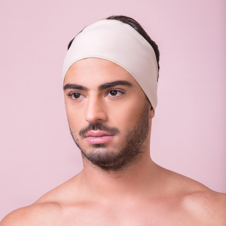 Faixa facial Reabilit 8011 cirúrgica compressiva, universal ajustável com velcro, ideal para Otoplastia, Frontoplastia  - Cinta se Nova