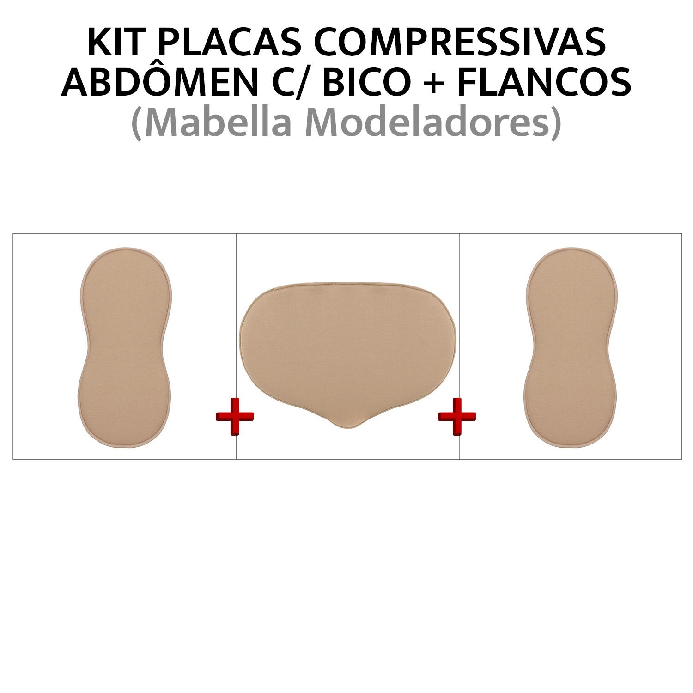 Kit de placas de compressão para abdômen + Flancos (placa com bico + oitinho)  - Cinta se Nova