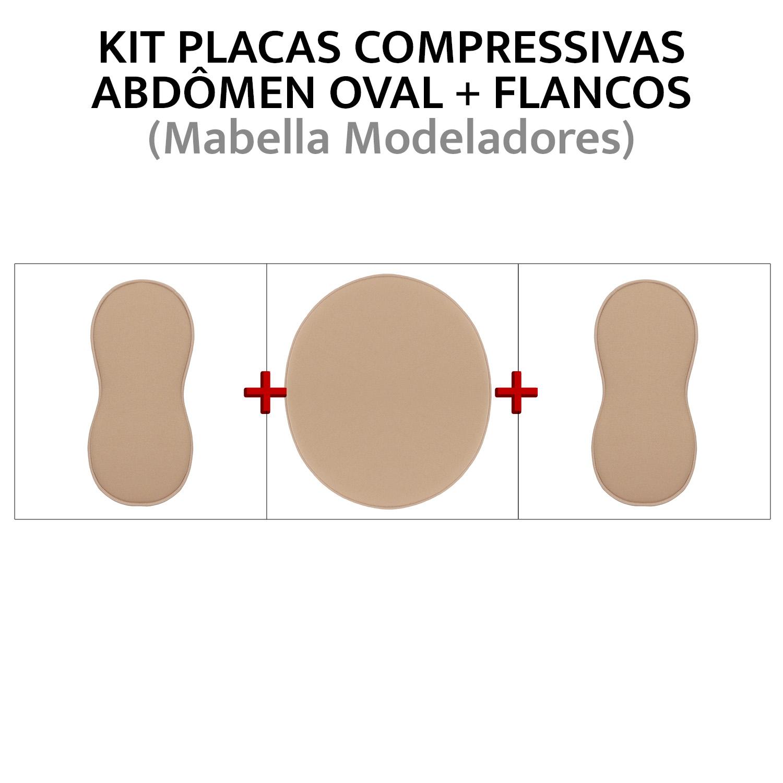 Kit de placas/ talas de compressão para abdômen + flancos  - Cinta se Nova