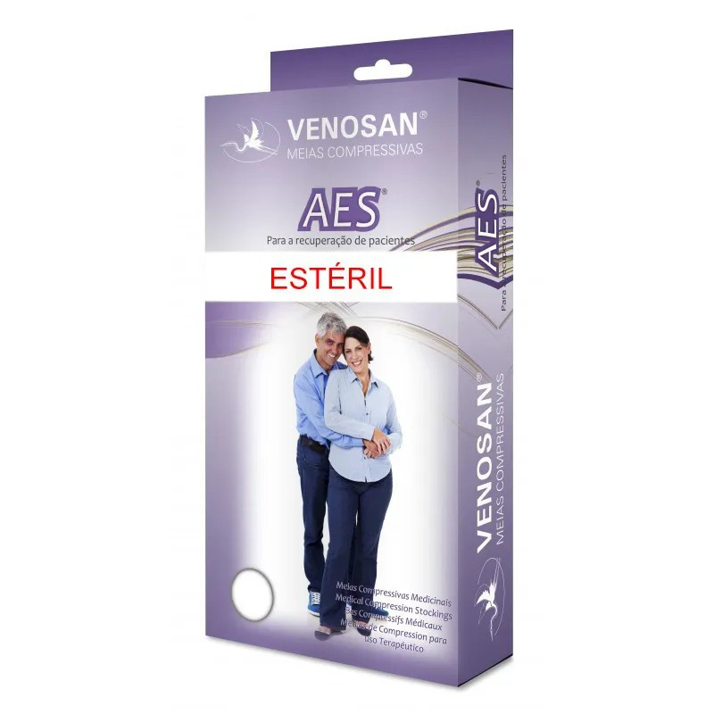 Meia compressiva Venosan 7/8 AES AD Estéril Antitrombo Antiembolia  - Cinta se Nova