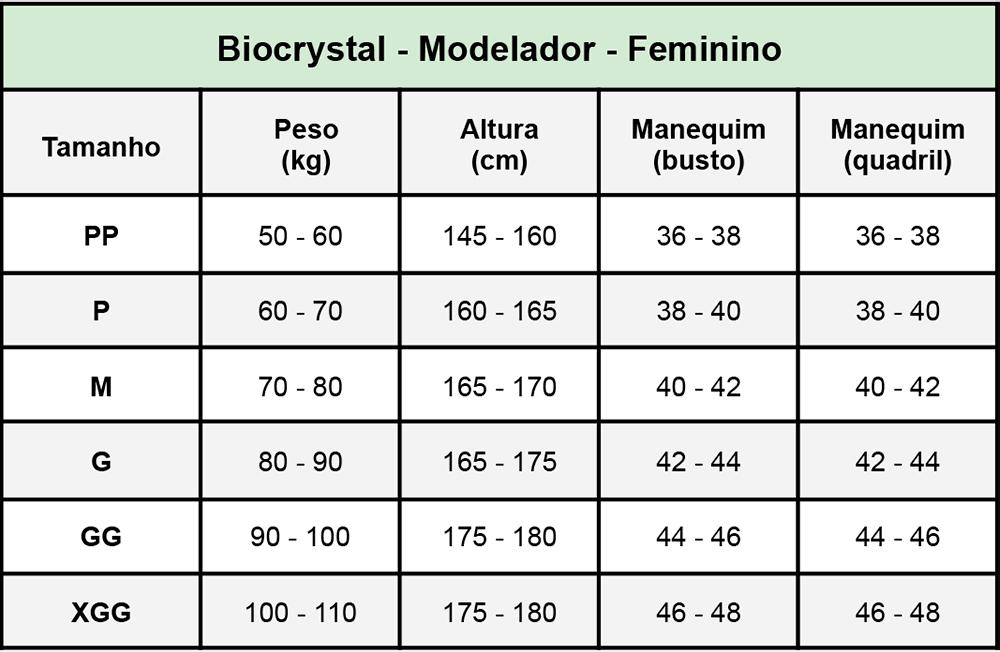 Modelador Biocrystal 1/2 Coxa Abertura Frontal Modelo Mod 8043