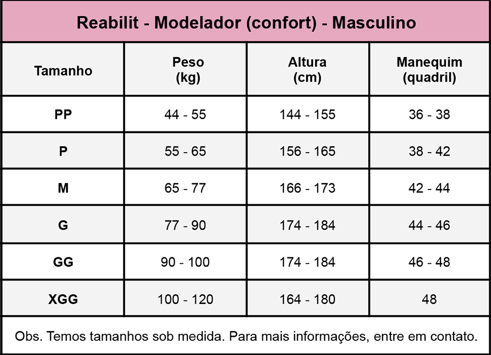 Modelador body masculino Reabilit 8036 cirúrgico compressivo indicado para ginecomastia, abdominoplastia bariátrica lipo  - Cinta se Nova