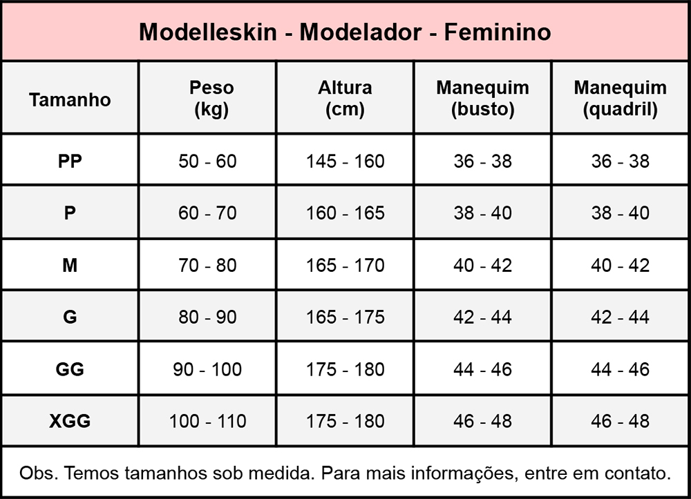 Modelador cirúrgico compressivo feminino longo c manga Modelleskin 84038 ideal p lipo abdômen braço perna prótese costas  - Cinta se Nova