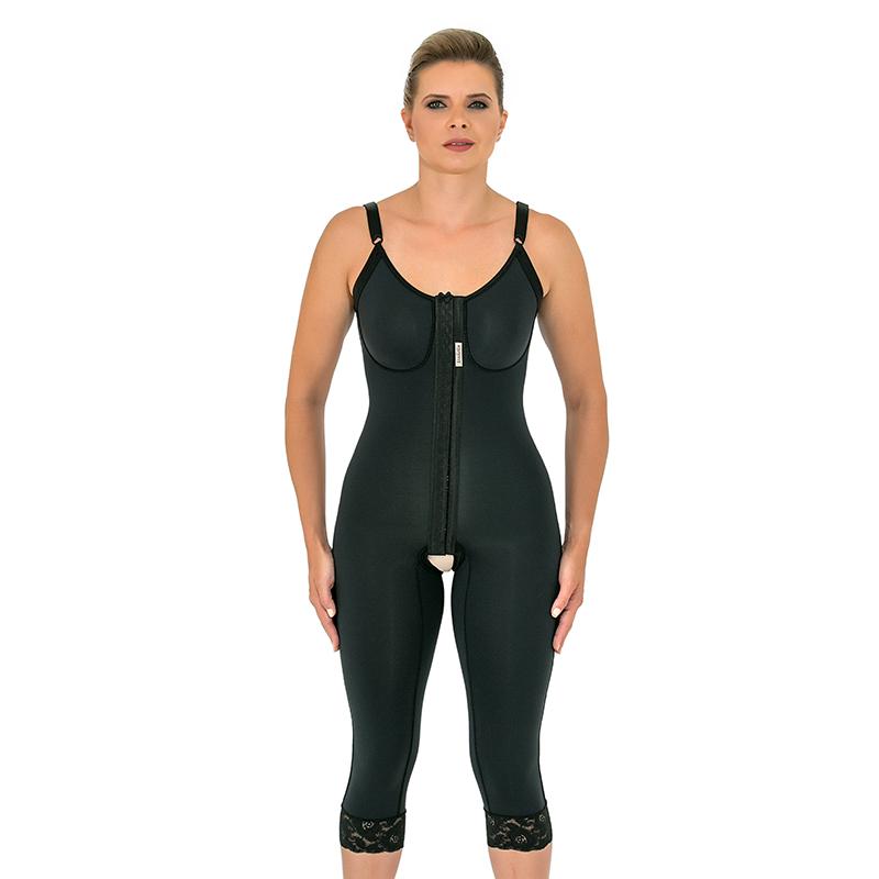 Modelador cirúrgico compressivo longo Mabella 1070 busto pré moldado, ideal para prótese de mama abdominoplastia costas  - Cinta se Nova