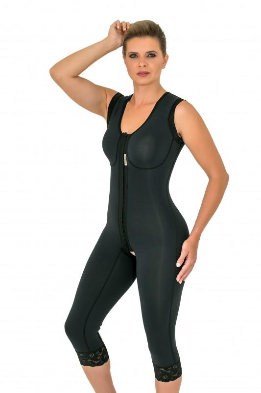 Modelador cirúrgico compressivo longo Mabella 1072 com alça larga ideal para cirurgia plástica lipo abdômen mama pernas  - Cinta se Nova