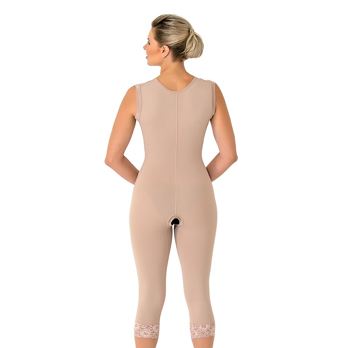 Modelador cirúrgico compressivo longo sem busto Mabella 1052 lipo na barriga dorso gluteoplastia prótese back shape coxa  - Cinta se Nova