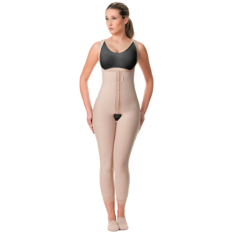 Modelador cirúrgico compressivo longo sem busto Modelleskin 82018 no tecido Emana ideal para lipo abdômen pernas prótese  - Cinta se Nova