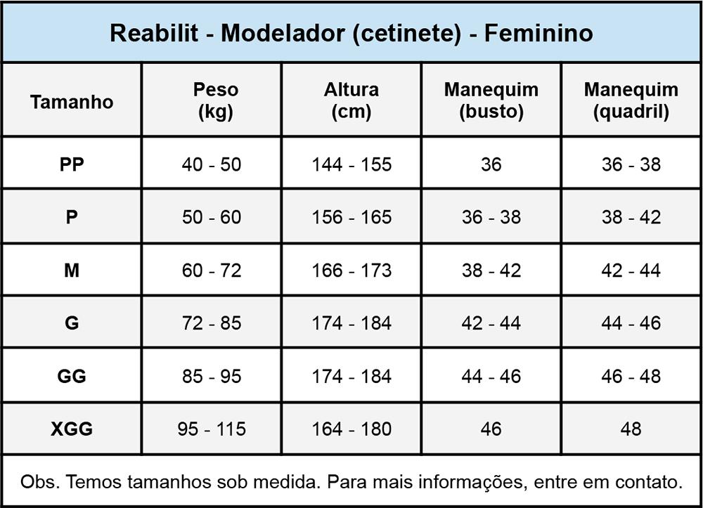 Modelador cirúrgico compressivo Reabilit 4021 Macaquinho cetinete ideal p abdominoplastia lipo escultura flancos costas  - Cinta se Nova