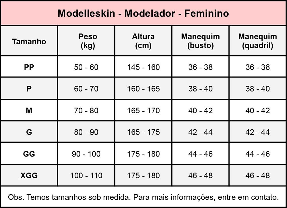 Modelador corpete Modelleskin 82000a, 12 barbatanas, sem busto, abertura frontal, alça fina regulável, fio tecnologia Em  - Cinta se Nova