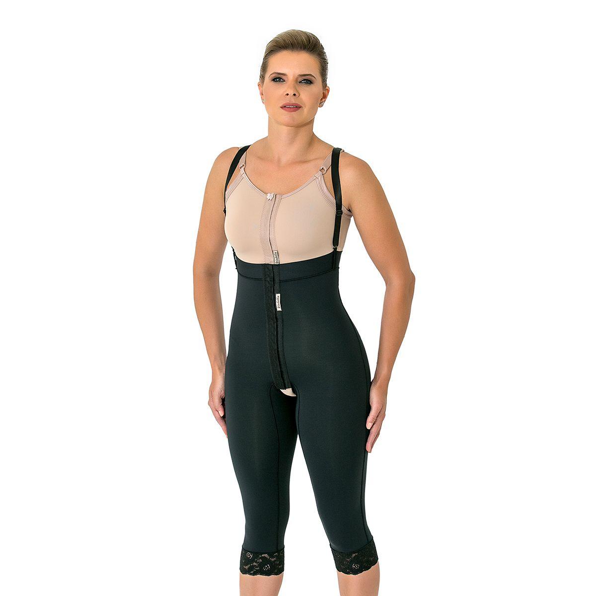 Modelador Mabella Calça Culote 1091 Cintura alta c perna abaixo do joelho abertura frontal