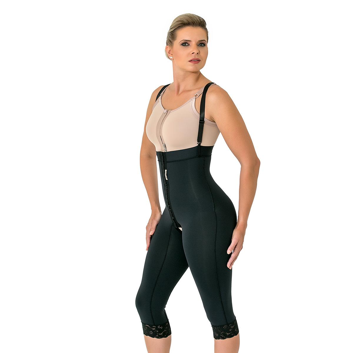 Modelador Mabella Calça Culote 1091 Cintura alta c perna abaixo do joelho abertura frontal  - Cinta se Nova
