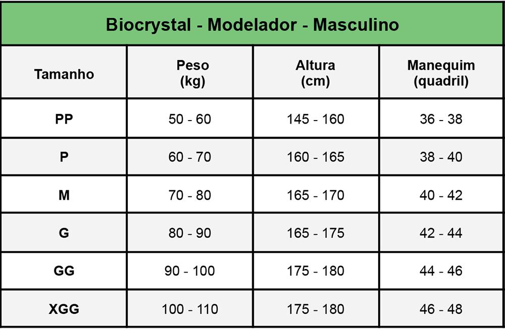 Modelador Masculino Biocrystal Lipoaspiração Abd Mod 8008  - Cinta se Nova