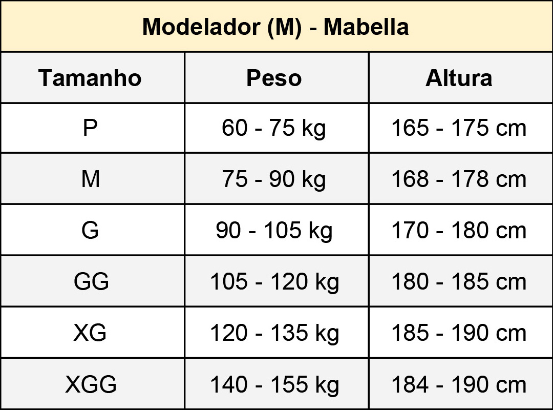 Modelador Masculino Mabella 1191 com pernas ½ coxa abertura frontal  - Cinta se Nova