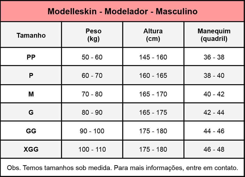 Modelador Modelleskin Masculino 84009 4009 Pós Cirúrgico Operatório  - Cinta se Nova