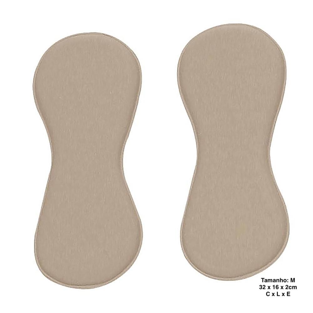 Par de placas de contenção YOGA 1006 AN para flancos tipo chinelo oitinho compressão pós cirúrgica operatório