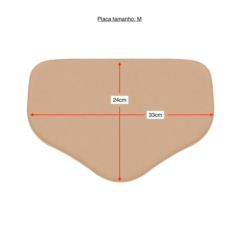 Placa tala de compressão retangular com bico Biobela 1617V p/ região abdominal. Ideal p lipoaspiração vibrolipoaspiração  - Cinta se Nova