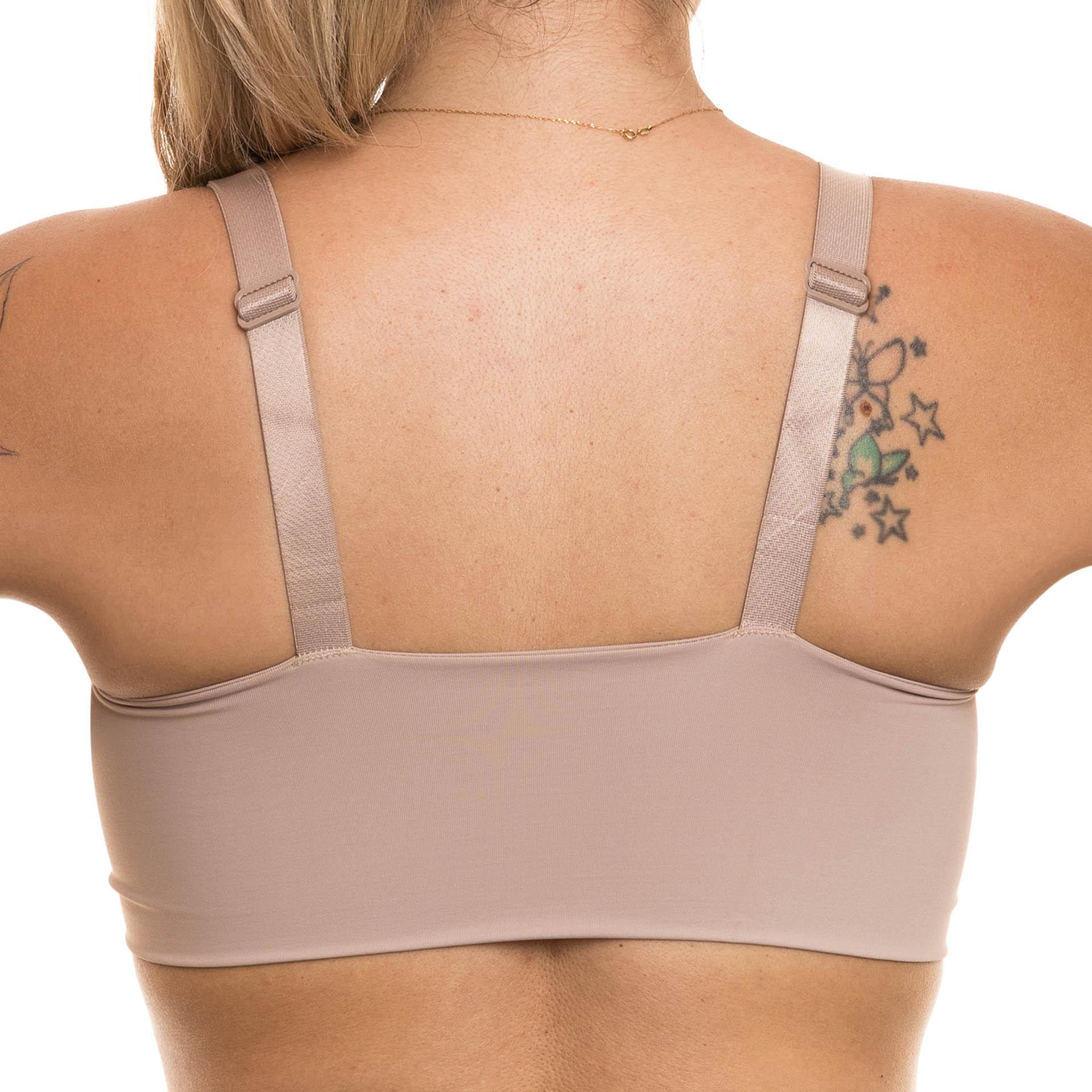 Sutiã anatômico cirúrgico Bio Safe Reabilit 8015E alça larga abertura frontal regulagem nas alças no tecido confort
