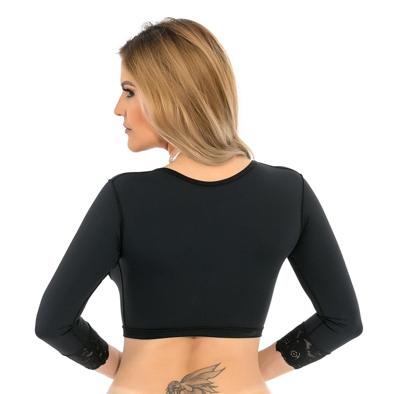 Sutiã cirúrgico compressivo com mangas Mabella 2122 tecido Emana o melhor pa braquioplastia lifting de braço mastopexia  - Cinta se Nova