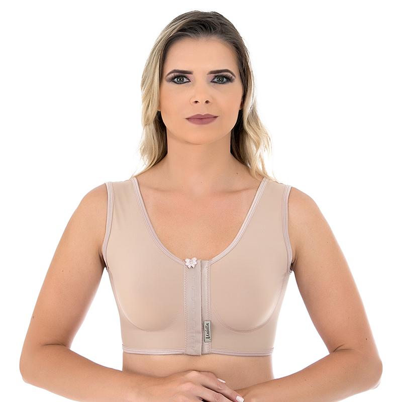 Sutiã cirúrgico compressivo Mabella 1160 alça larga melhor para cirurgia plástica prótese mama silicone aumento lifting  - Cinta se Nova