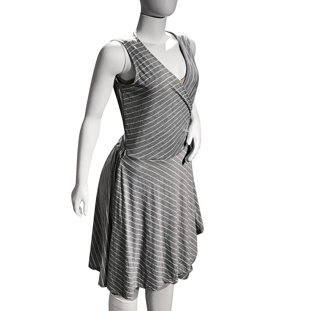 Vestido transpassado feito para uso após cirurgia parto e uso geral