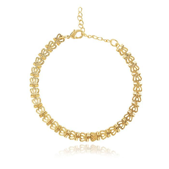 Pulseira Little Crowns Banho Ouro 18K