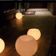 Luminária bola D=20 cm (Unidade)