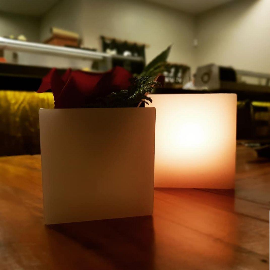 Luminária quadrada 10x10 (Unidade)