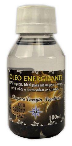 Óleo Energizante massagem - Limpeza Energia Negativa