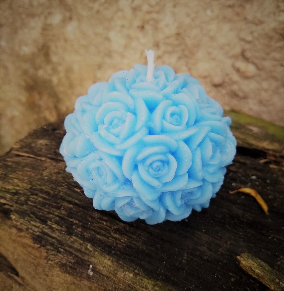 Vela bola mini rosas