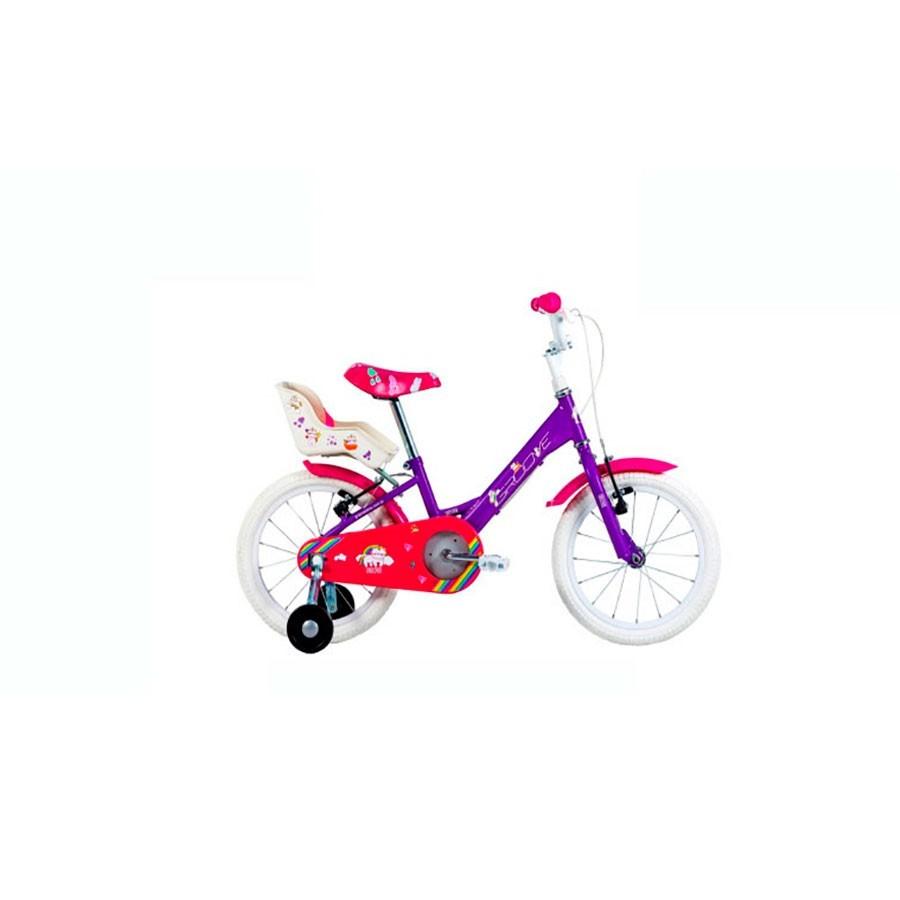 Bicicleta Infantil Groove Aro 16 Unilover Com Cadeirinha de Boneca