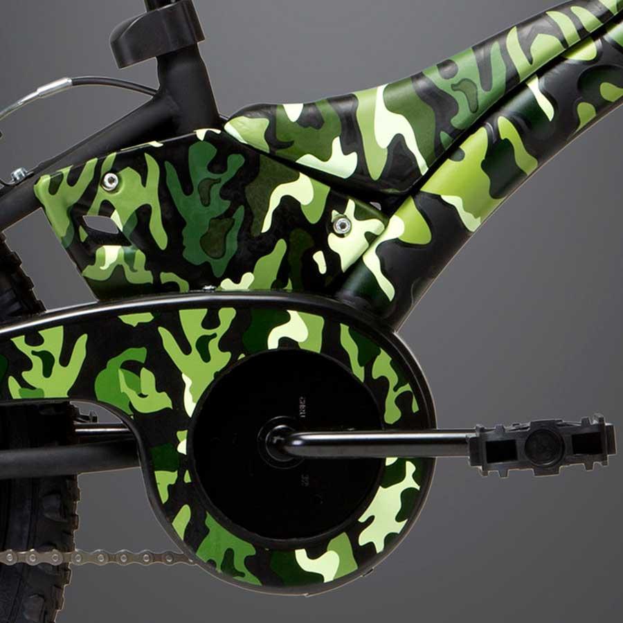 Bicicleta Infantil Groove T 20 Camuflada Verde - Aro 20