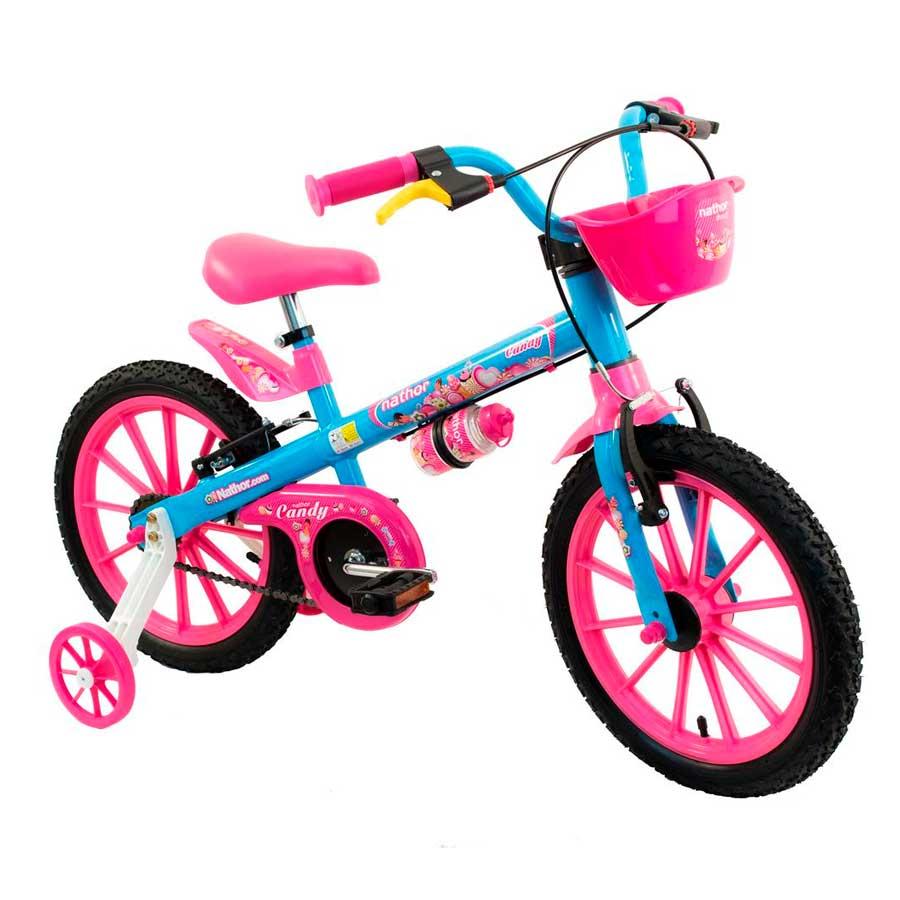 Bicicleta Infantil Nathor Candy Aro 16