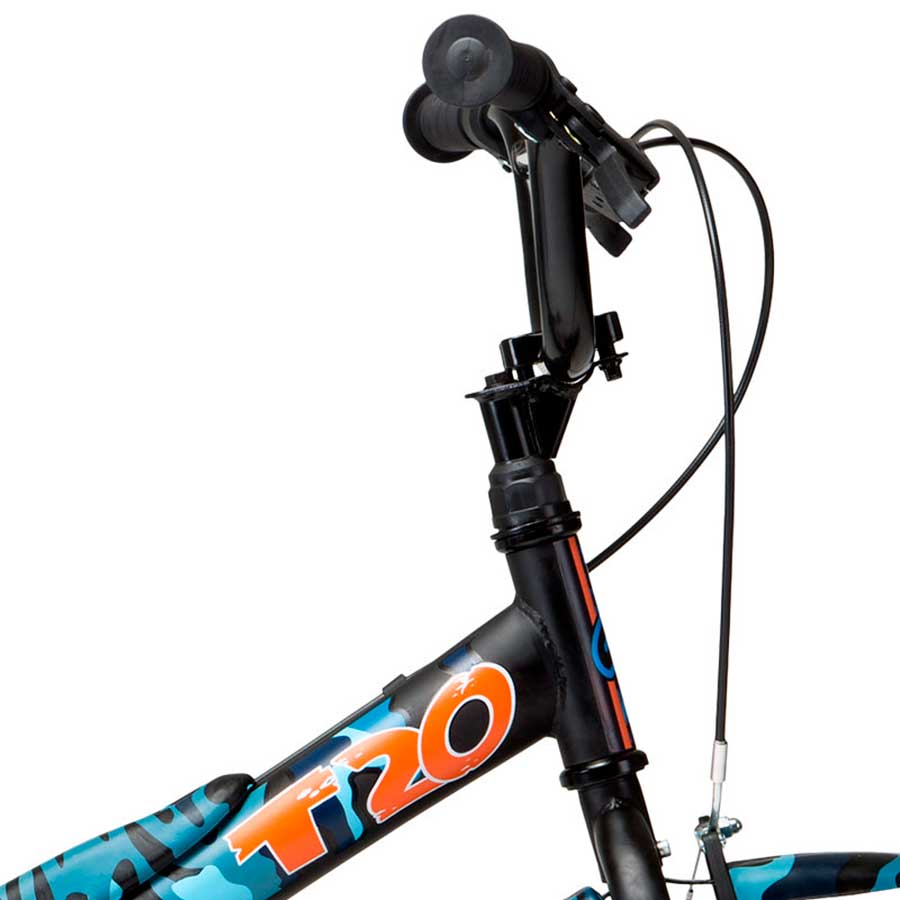 Bicicleta Infantil Groove T 20 Camuflada Azul - Aro 20