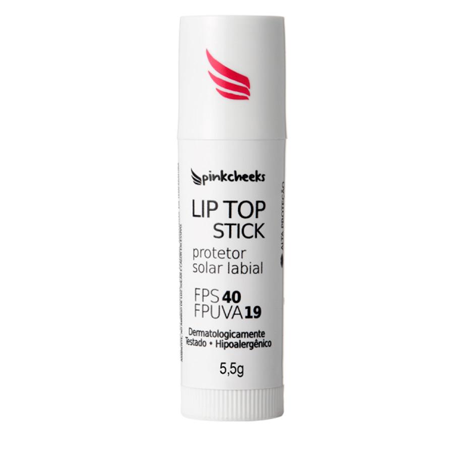 Protetor Solar Labial Lip Top Stick  (FPS 40 / FPUVA 19) 5,5g - Pink Cheeks