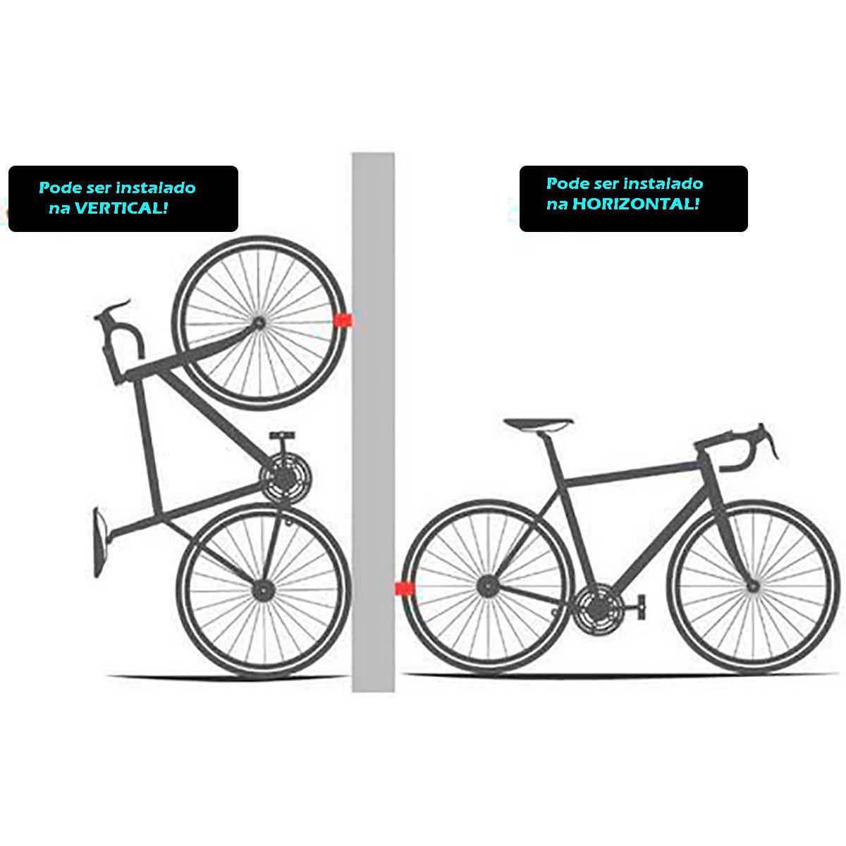 Suporte Parede Clug Bicicleta Híbrida / Urbana - O Menor Suporte de Bicicleta do Mundo