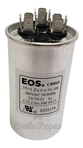 Capacitor 35+1,5uf Ar Condicionado Lg 12 - 18.000 Btus