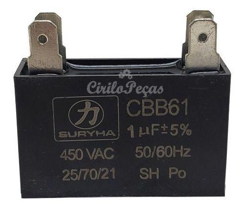 Capacitor Ar Condicionado Springer-LG-consul 1uf 450vac
