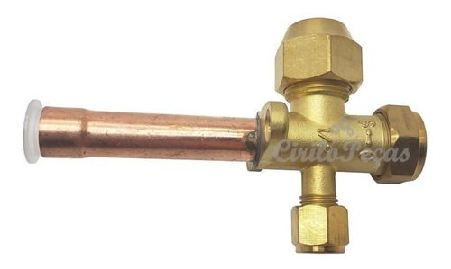 Valvula De Serviço 1/2 Ar Condicionado 3 Vias