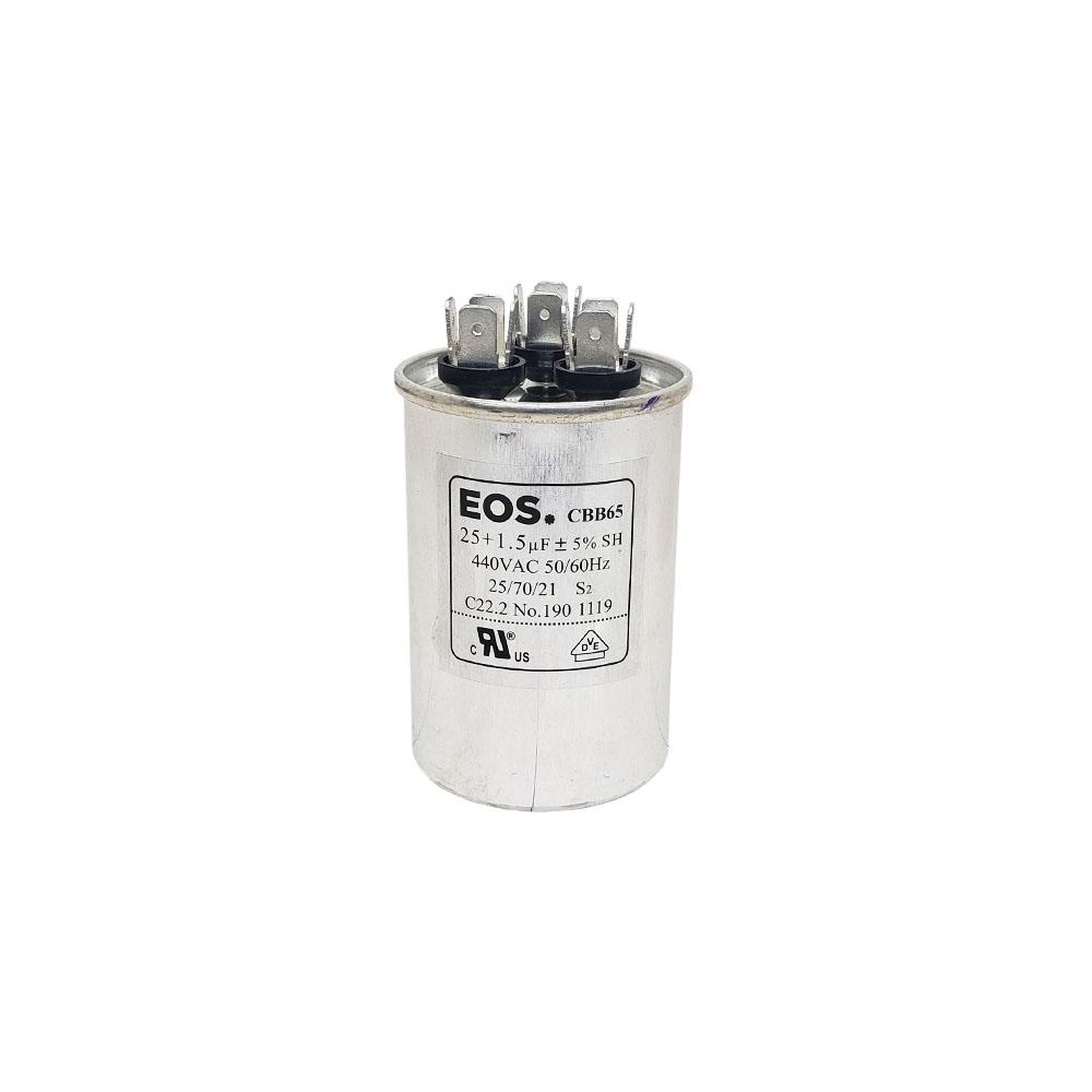 Capacitor 25+1.5uf /440vac Eos