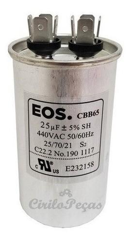 Capacitor 25uF 440Vca  CBB65 - Eos