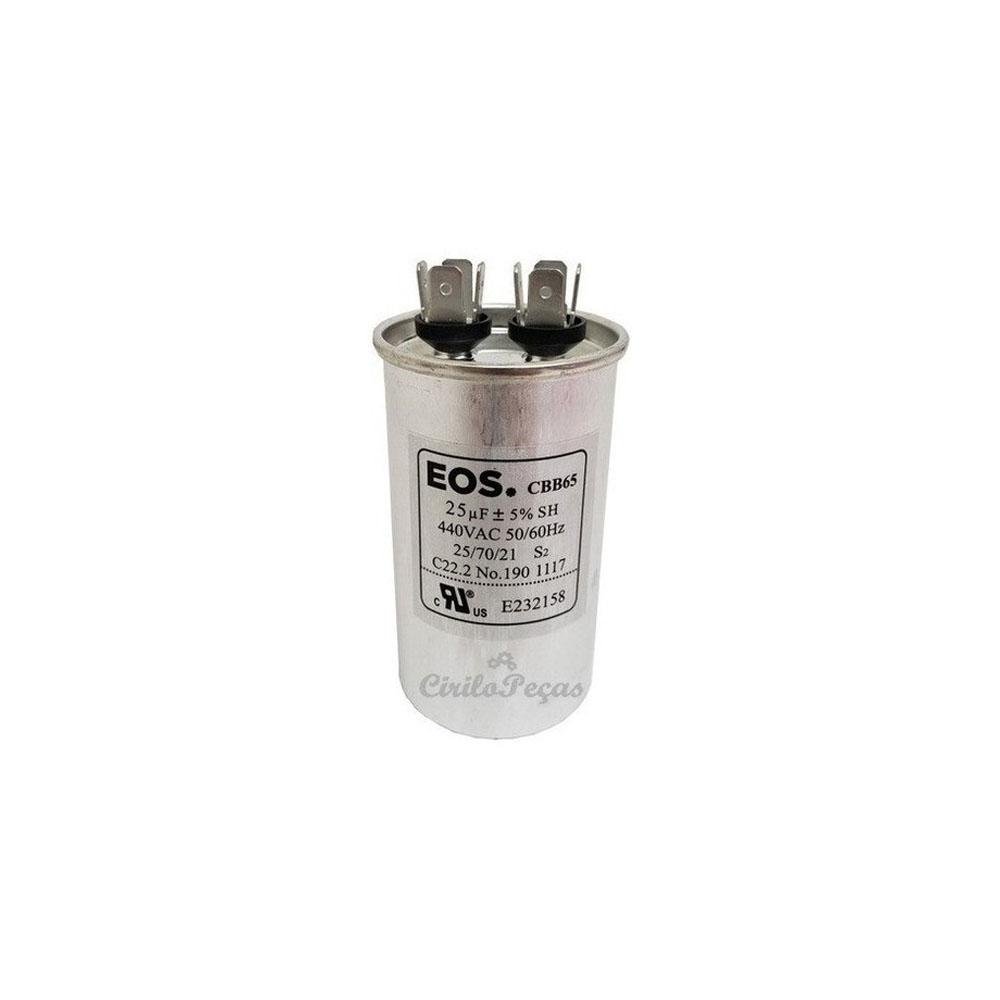 Capacitor 25uF / 440Vca - Eos