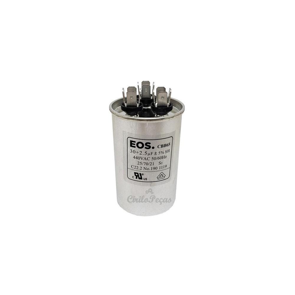 Capacitor 30+2.5uf / 440vac - Eos