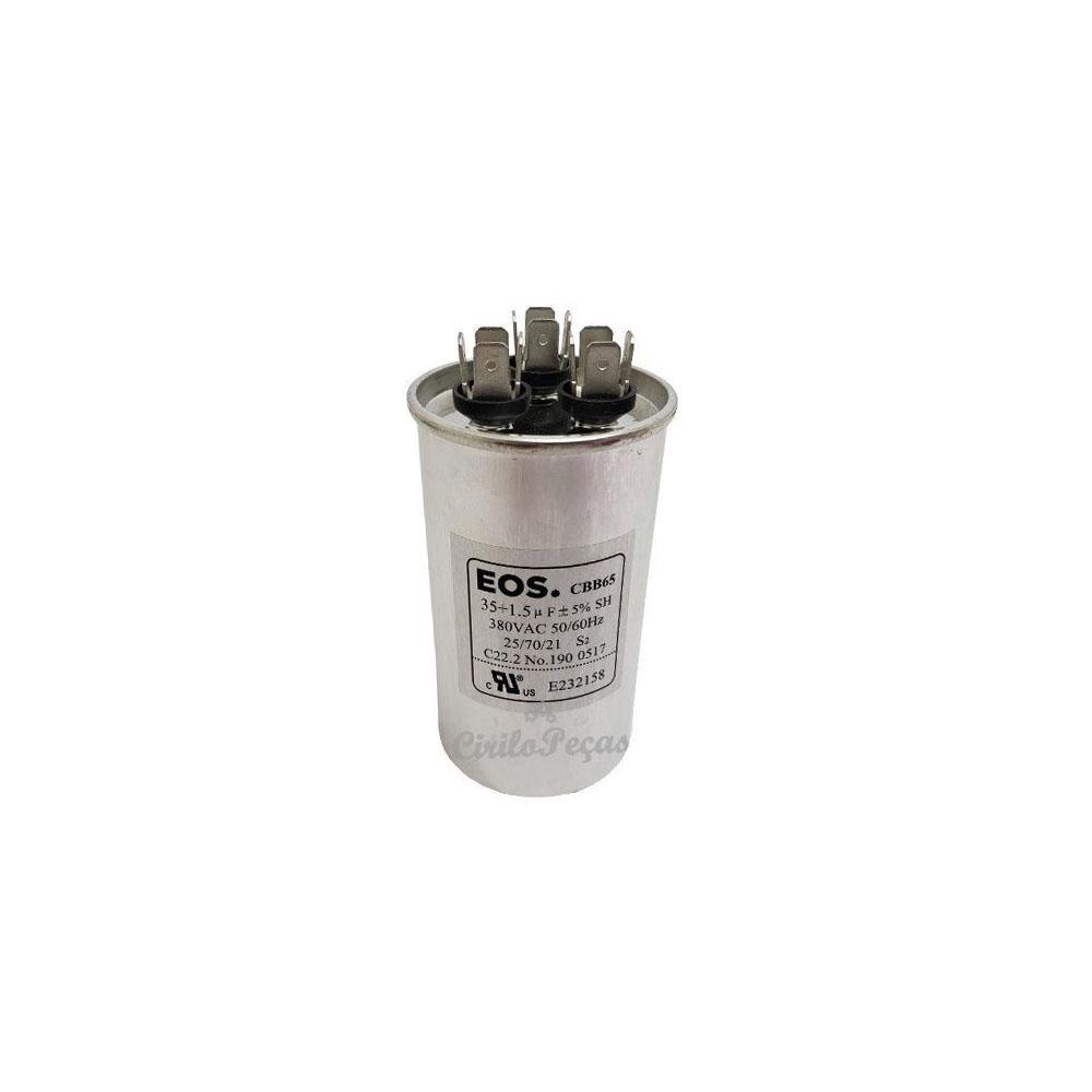 Capacitor 35+1.5uf /440vac Eos