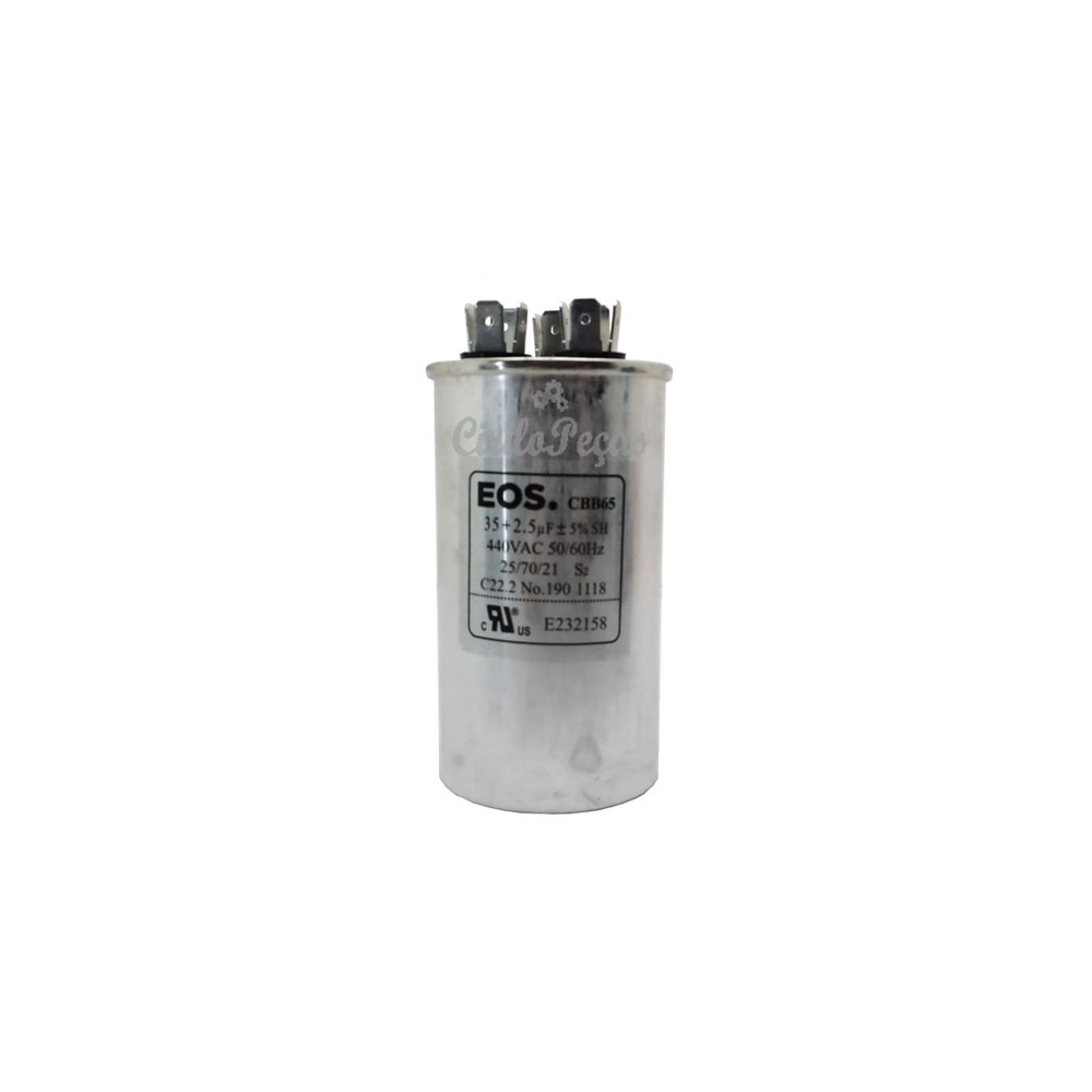 Capacitor 35+2.5uf / 440vac - Eos